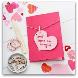 Открытки ко дню Святого Валентина своими руками с прищепками