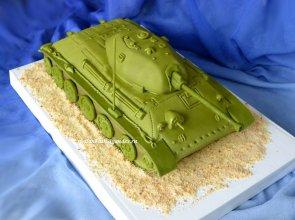 Торт танк, торт для мужчины, торты из мастики для мужчин