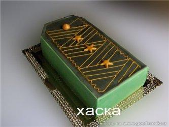 Торт погон, торт для мужчины, торты из мастики для мужчин