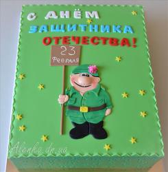 Торт солдат, торт для мужчины, торты из мастики для мужчин