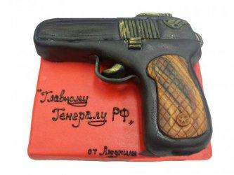 Торт пистолет, торт для мужчины, торты из мастики для мужчин