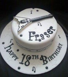 Торт гитара, торт для мужчины, торты из мастики для мужчин