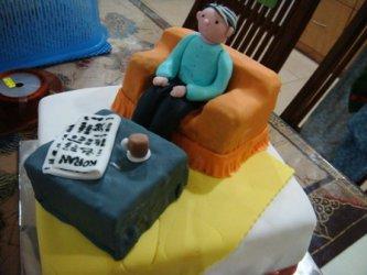 Торт для дедушки, торт для мужчины, торты из мастики для мужчин