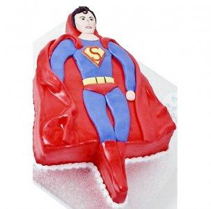 Торт Супермен/Superman, торт для мужчины, торты из мастики для мужчин
