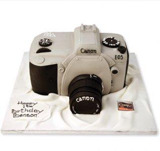 Торт фотоаппарат, торт для мужчины, торты из мастики для мужчин
