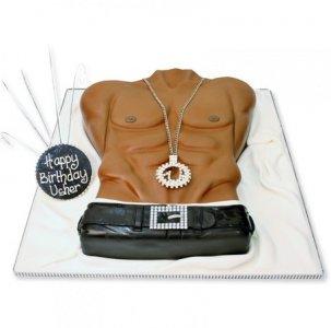 Торт мужской торс, торт для мужчины, торты из мастики для мужчин