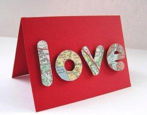 Открытки ко дню Святого Валентина своими руками love