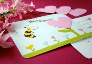 Открытки ко дню Святого Валентина своими руками с пчелкой