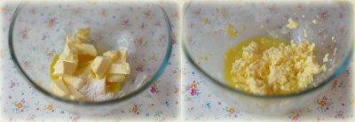 Основа для чизкейка: Смешайте миксером сливочное масло, яйцо, сахарозаменитель (или сахарную пудру), соль
