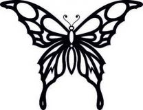 Шаблоны для рисования шоколадом или айсингом (бабочки)