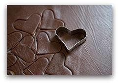 Домашнее шоколадное печенье - вырежьте печенье