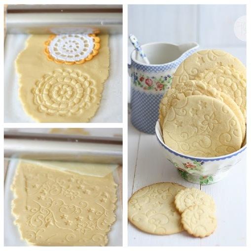 Печенье рисунок от салфетки