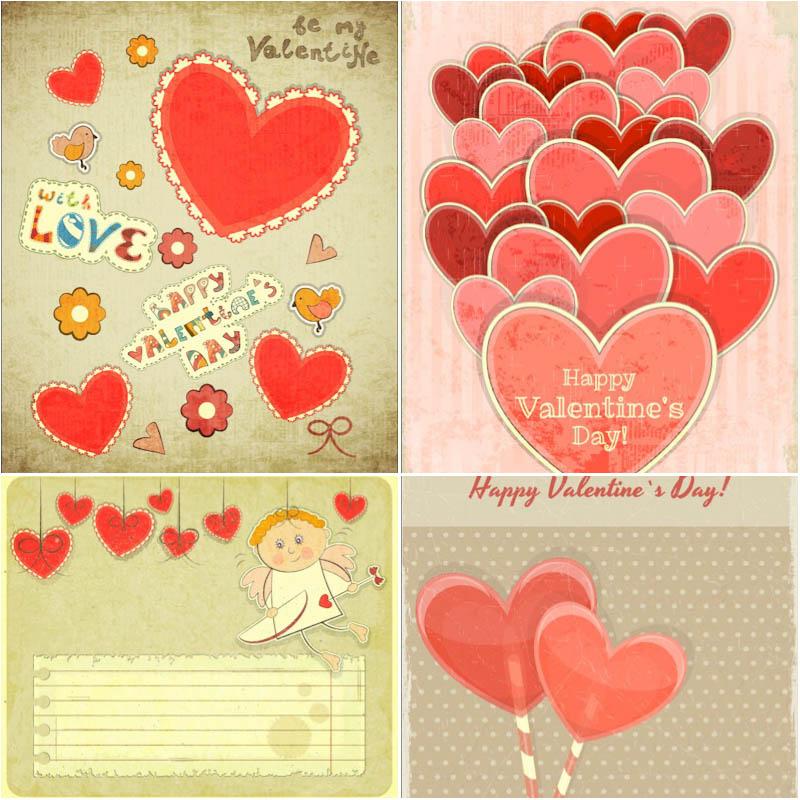 Векторные картинки ко дню Святого Валентина