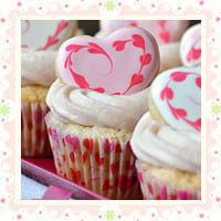 Украшение кексов на День Святого Валентина