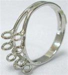 основа под кольцо с петельками